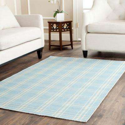 Kilim Light Blue/Yellow 3 ft. x 5 ft. Area Rug