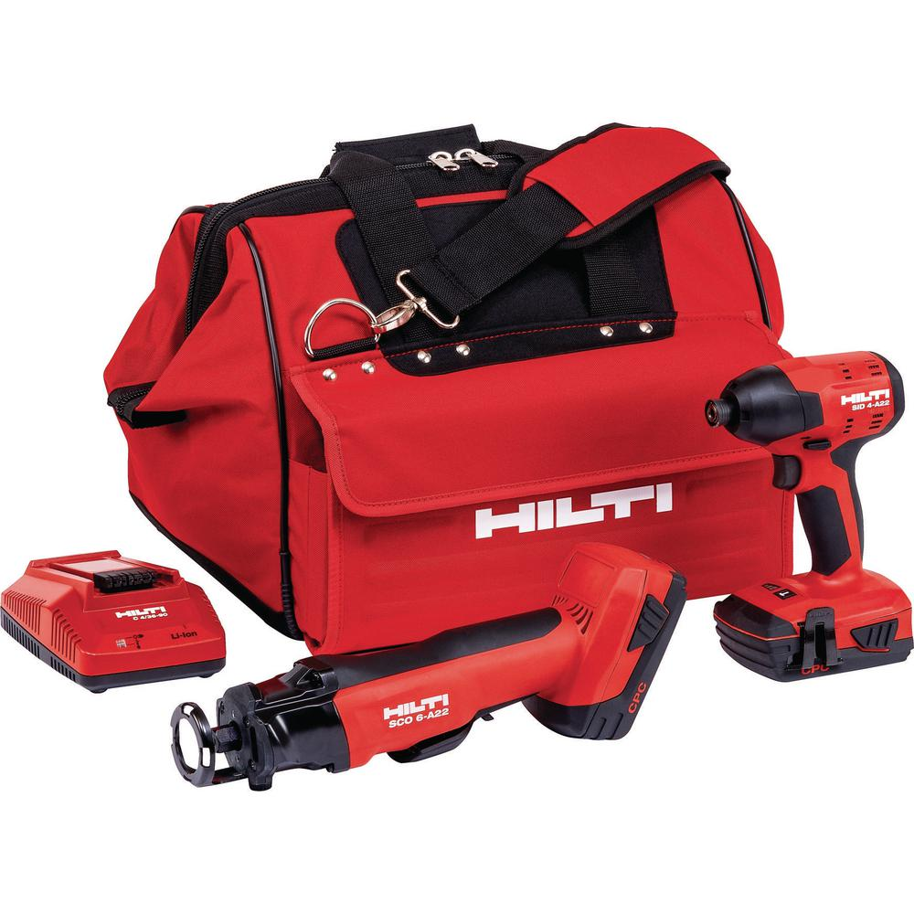22-Volt Lithium-Ion Cordless Cut-Out Tool/Impact Driver Compact Combo Kit (2-Tool)
