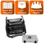 12 in. Electrician's Tote Bag with Integrated Parts Bin Compartment