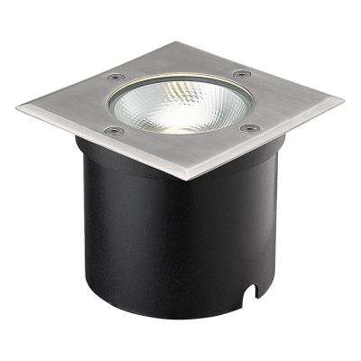 7-Watt Black Stainless Steel Outdoor Integrated LED Landscape Well Light