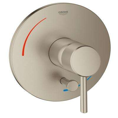 Concetto Soft Single-Handle Bath/Shower Valve Only Trim Kit in Brushed Nickel (Valve Sold Separately)