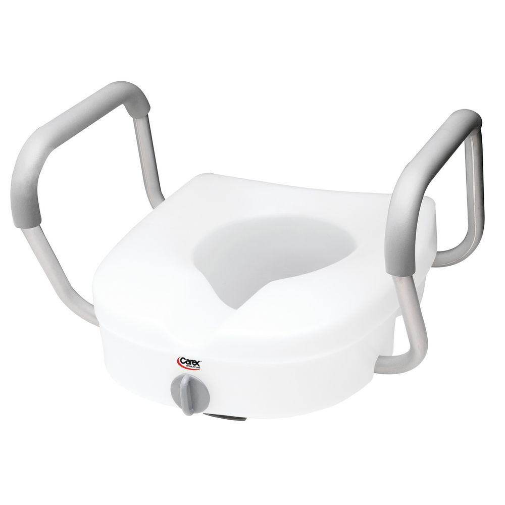 E-Z Lock Raised Toilet Seat with Armrests