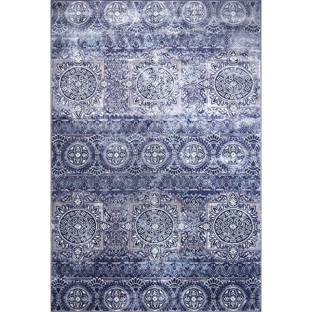 Bazaar Crystal Blue 5 Ft 2 In X 7 Ft 9 In Indoor Area