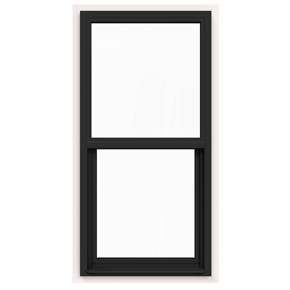 24 in. x 48 in. V-4500 Series Bronze FiniShield Single-Hung Vinyl Window with Fiberglass Mesh Screen