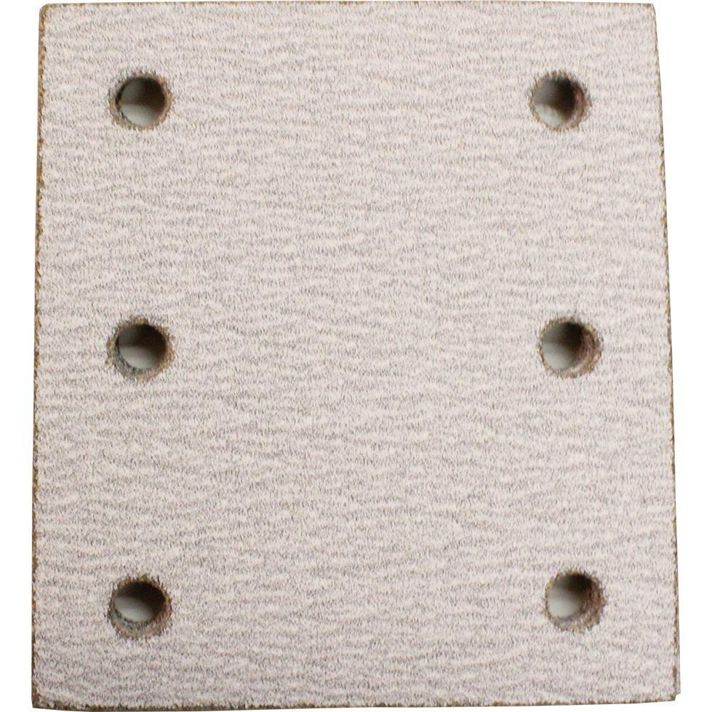 4 in. x 4-1/2 in. 100-Grit Abrasive Paper (5-Pack)