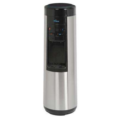 Point-of-Use Hot/Room/Cold Temperature Quick Connect Filtration Water Cooler Dispenser w/ Kettle Feature-Stainless Steel