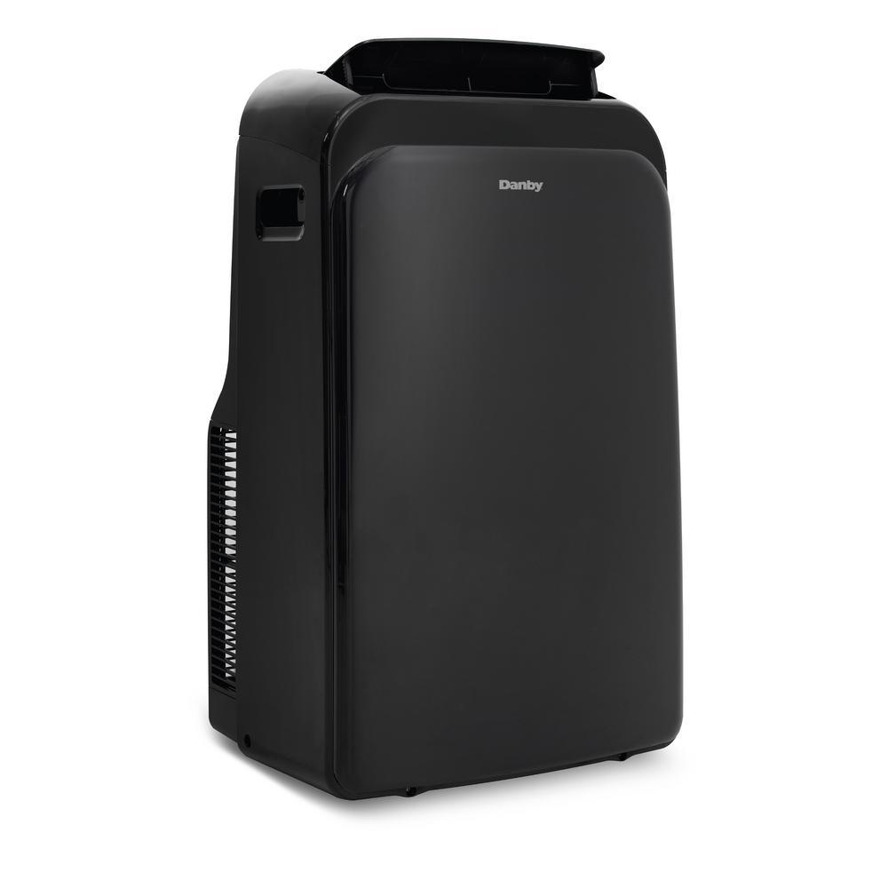 Danby 14 000 Btu 9 000 Btu Doe Portable Air Conditioner With Heat Pump And Dehumidifier In Black Dpa140hb1bdb 6 The Home Depot