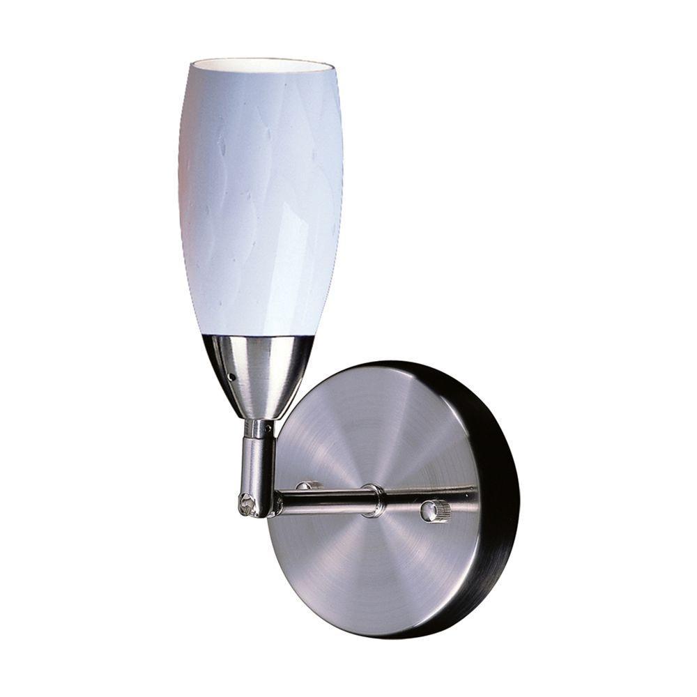 Titan Lighting 1-Light Wall Mount Satin Nickel Bracket-DISCONTINUED