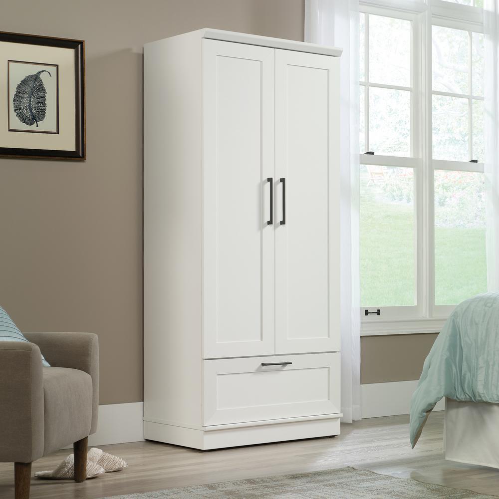 Soft White Wardrobe Storage Cabinet