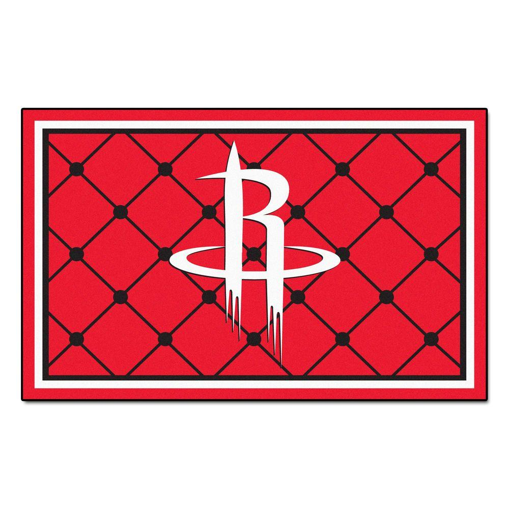 FANMATS Houston Rockets 5 Ft. X 8 Ft. Area Rug-9273