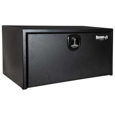 24 in. x 24 in. x 36 in. Textured Matte Black Steel Underbody Truck Box with 3-Point Latch