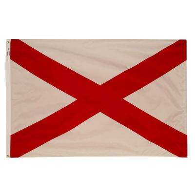 3 ft. x 5 ft. Nylon Alabama State Flag