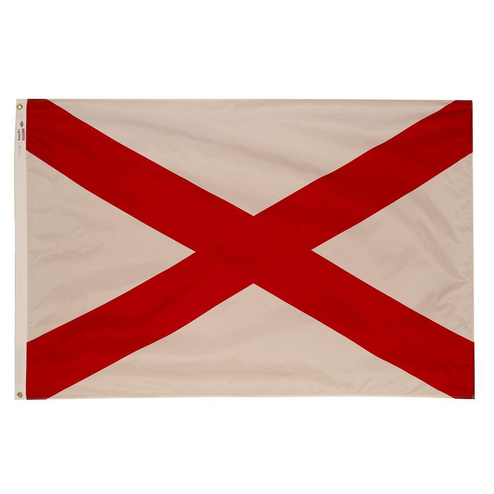 3 ft. x 5 ft. Nylon Alabama State Flag