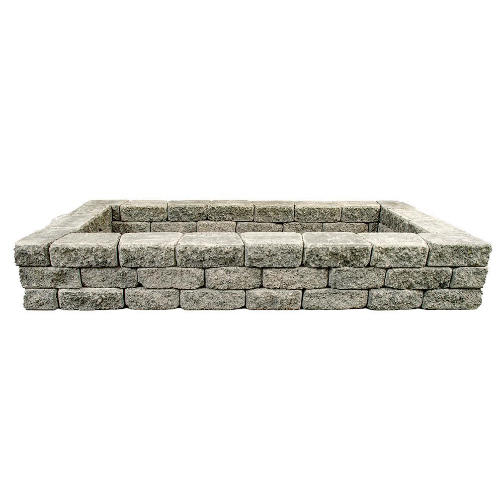 RomanStack 83 in. x 39 in. x 12 in. Northwest Blend Concrete Raised Garden Bed