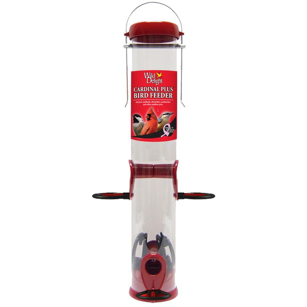 15 in. Wild Delight Metal Cardinal Bird Feeder