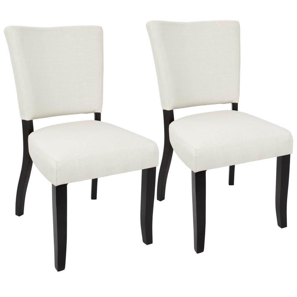 Vida Espresso and Cream Dining Chair (Set of 2)