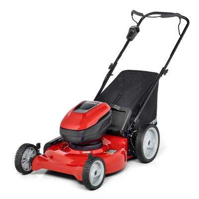 21 in. 58-Volt Lithium-ion Cordless Battery Electric Start Walk behind Push Lawn Mower
