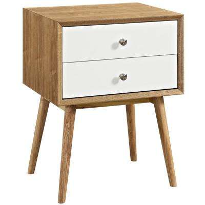 Dispatch Natural White Nightstand