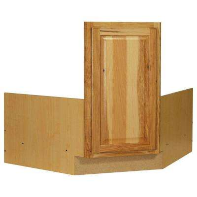 Hampton Ready to Assemble 36 x 34.5 x 24 in. Corner Sink Base Kitchen Cabinet in Natural Hickory