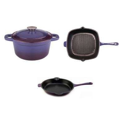 Neo 3-Piece Purple Cookware Set