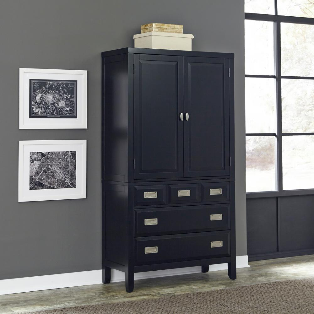Prepac Sonoma Black Armoire Bdc 3359 K The Home Depot # Meuble Tv Sonoma