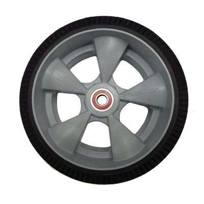 10 in. x 3-1/2 in. Hand Truck Wheel Interlocking Microcellular Foam with Sealed Semi-Precision Bearings