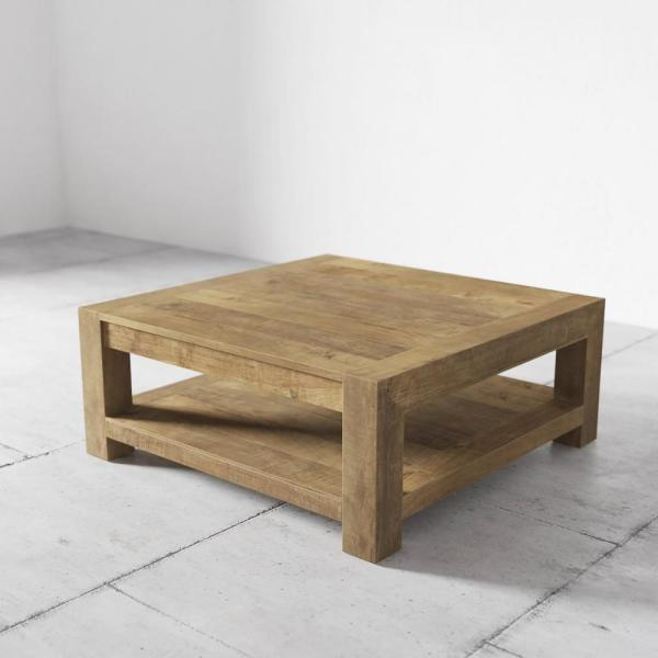 Urban Woodcraft Villa 43 In Natural Large Square Wood Coffee Table With Storage 500h 40ct Ag N The Home Depot