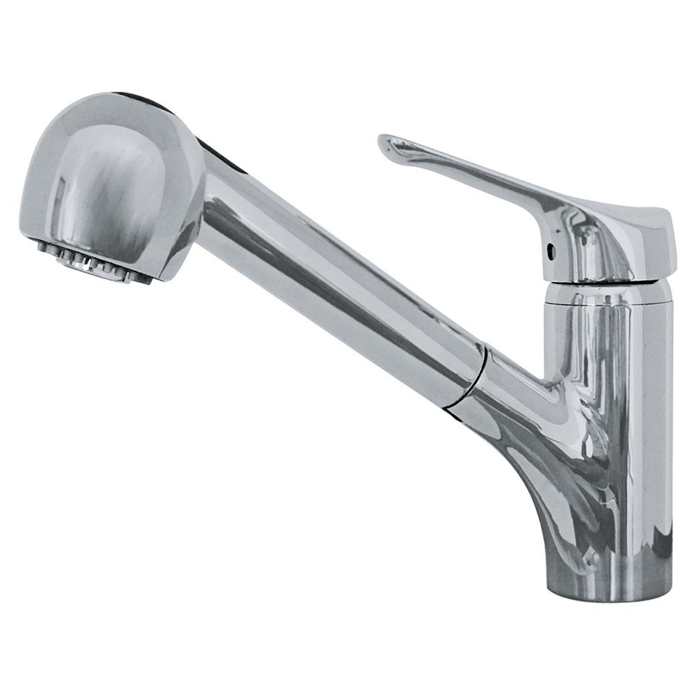 Franke vesta single handle pull out sprayer kitchen faucet with water saver in satin