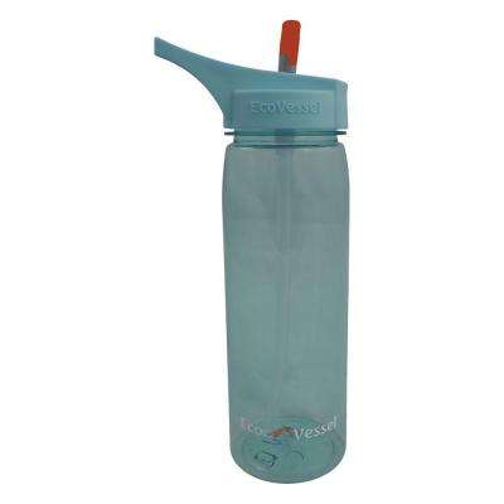 25 oz. Wave Tritan Plastic Bottle with Straw Top - Boulder Blue