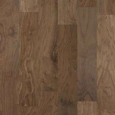 Take Home Sample - Major Event Walnut Cappuccino Engineered Click Hardwood Flooring - 9.25 in. x 8 in.