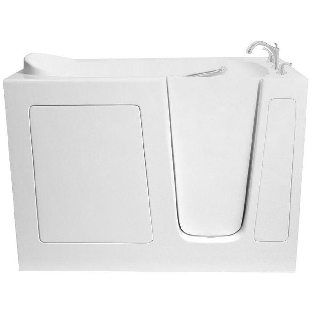 Ariel 5 ft. Walk-In Whirlpool and Air Bath Tub in White