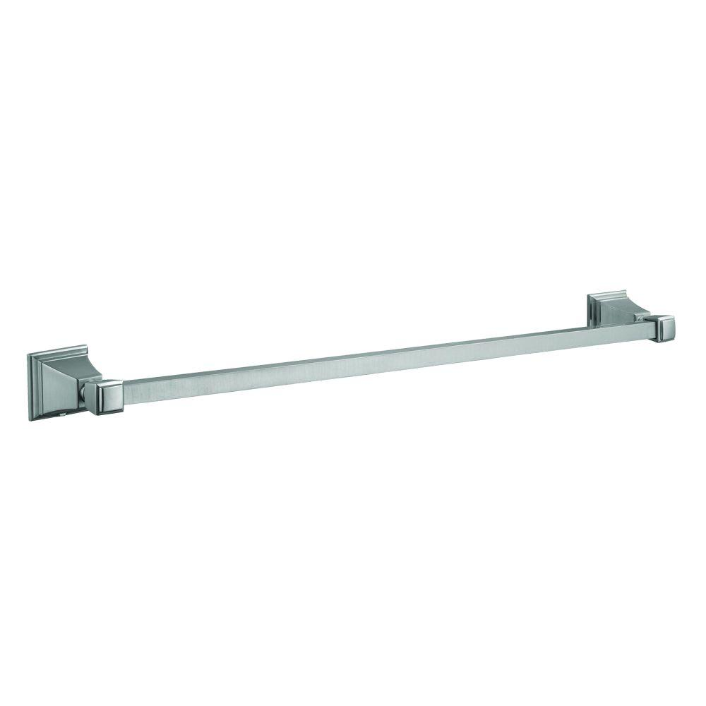 Design House Torino 24 in. Towel Bar in Satin Nickel