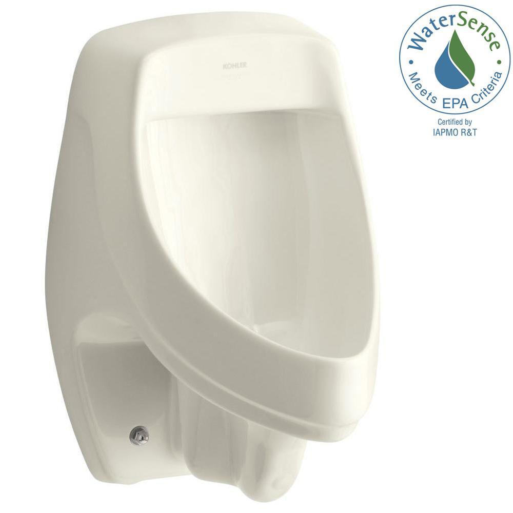 KOHLER Dexter 1.0 GPF Urinal with Rear Spud in Biscuit