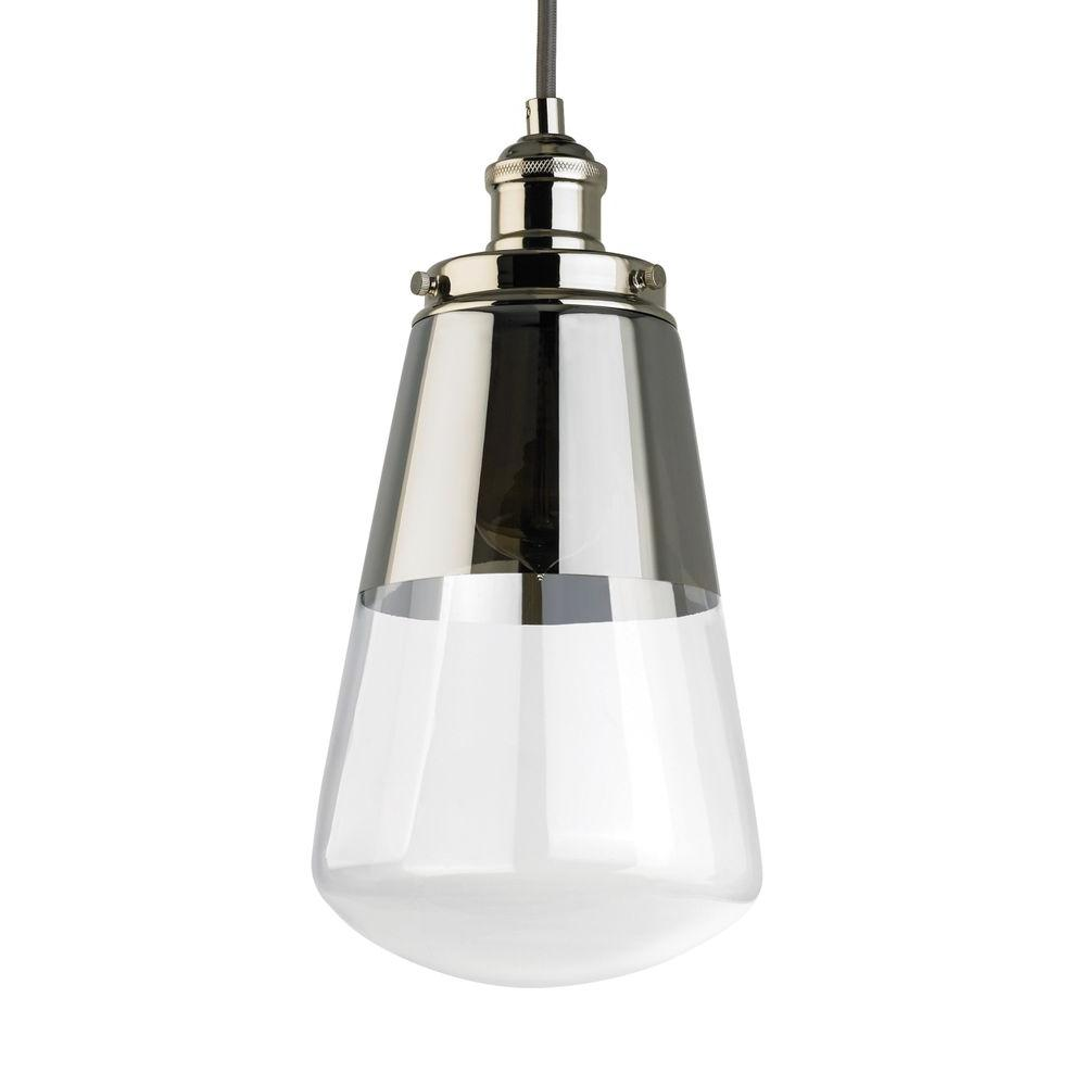 Feiss Waveform 7 375 In W 1 Light Polished Nickel Mini Pendant