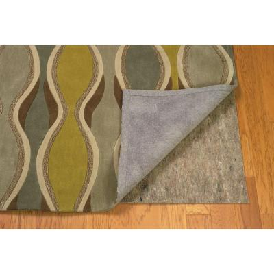 Underlay Premier Plush Grey and Multi 5 ft. x 8 ft. Hard and Smooth Surface Rug Pad