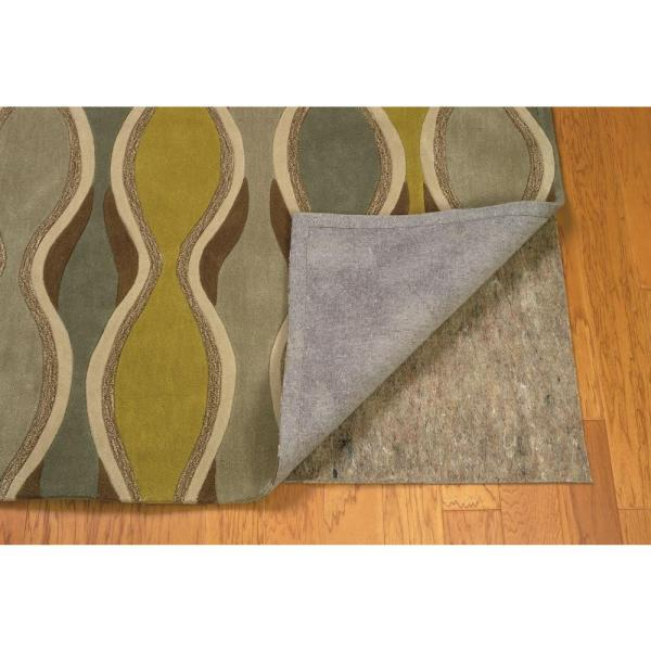 Underlay Premier Plush Grey and Multi 8 ft. x 10 ft. Hard and Smooth Surface Rug Pad