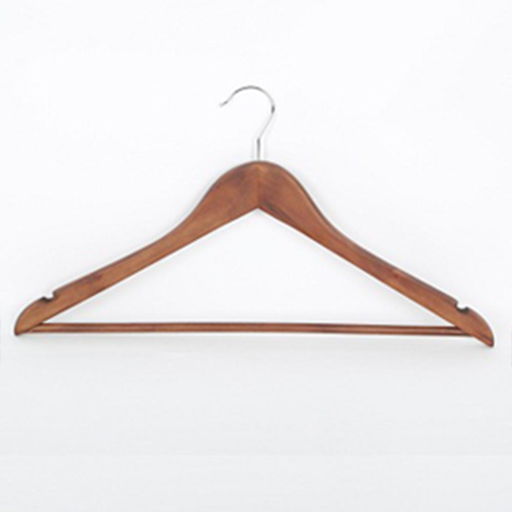 Hdx Walnut Wood Hangers 20 Pack