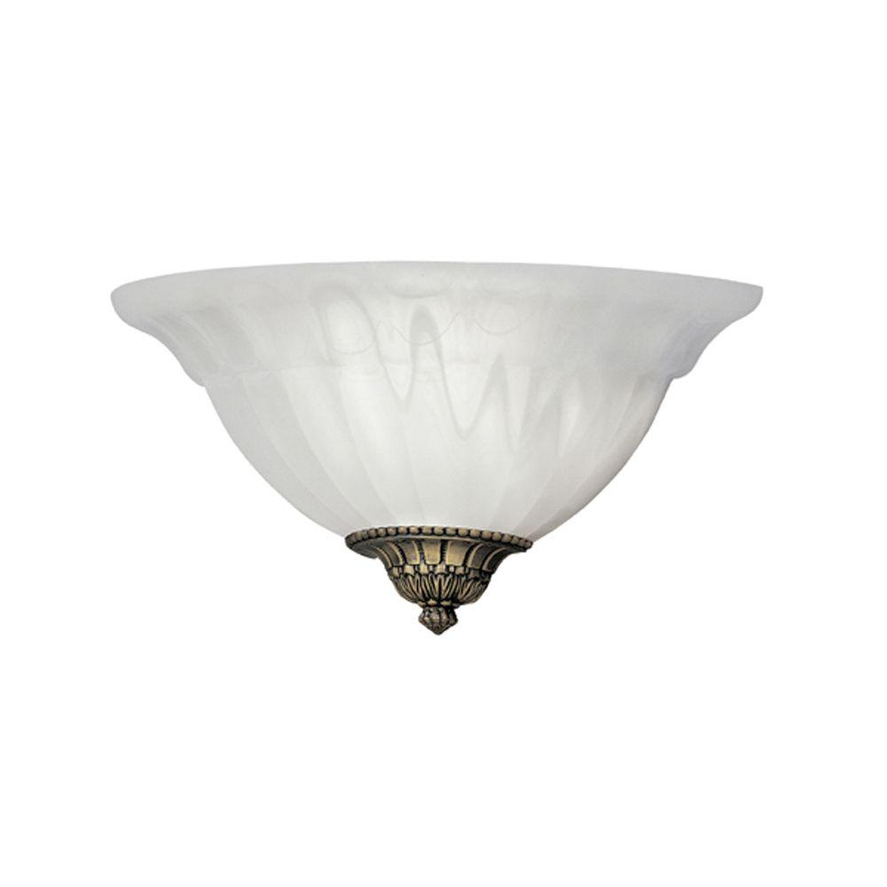 Latrobe Collection 1-Light Bronze Wall Mount Sconce with Frosted Glass