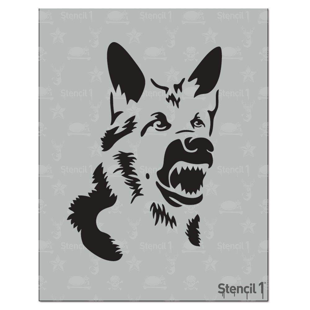 stencil1 german shepherd stencil s1 01 146 the home depot