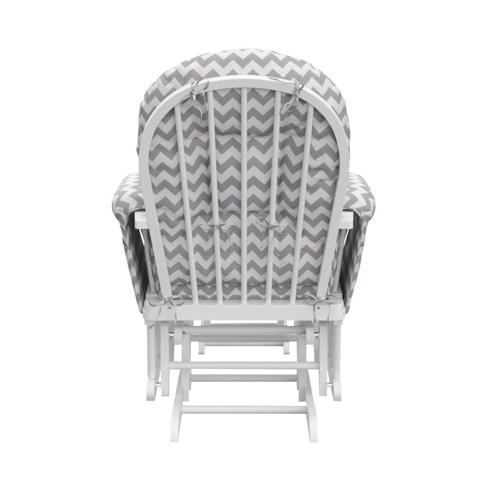 Peachy Storkcraft White With Gray Chevron Cushion Hoop Glider And Machost Co Dining Chair Design Ideas Machostcouk
