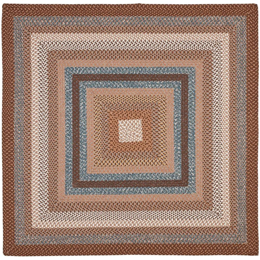 Safavieh Braided Brown Multi 6 Ft X 6 Ft Square Area Rug