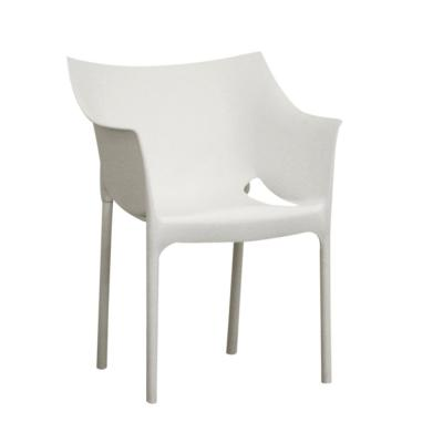 Maria White Finished Plastic Dining Chairs (Set of 2)