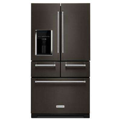 25.8 cu. ft. French Door Refrigerator in Black Stainless with Platinum Interior