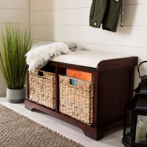 Stupendous Safavieh Freddy Cherry Storage Bench Amh5736E The Home Depot Alphanode Cool Chair Designs And Ideas Alphanodeonline