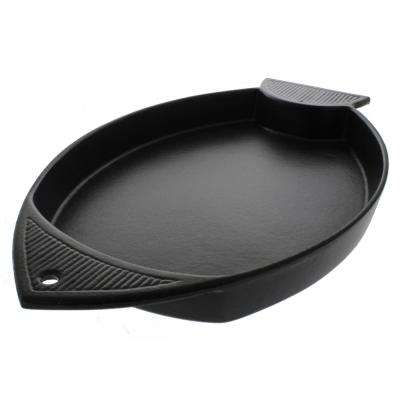 16 in. French Cast Iron Fish-Shaped Griddle