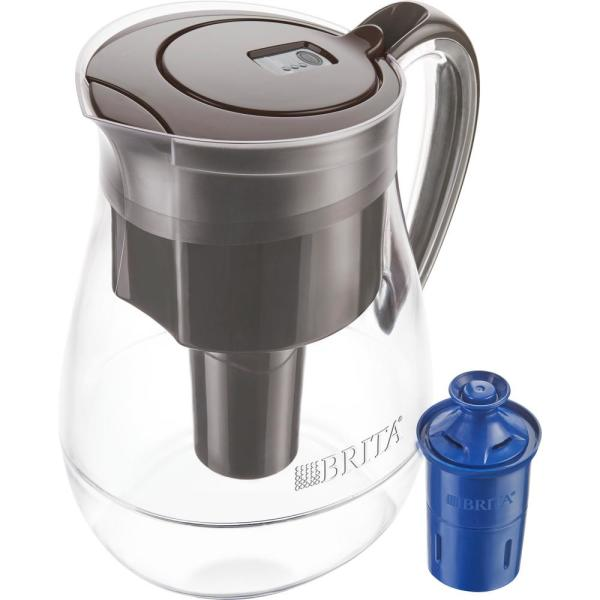 Monterey 10-Cup Water Filter Pitcher in Black with Longlast Water Filter, BPA Free