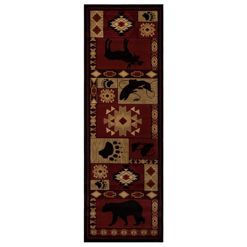 Balta US Northern Territory Red 2 ft. 7 in. x 7 ft. 10 in. Rug Runner