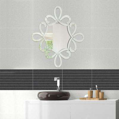 24 in. x 24 in. Belle Ecriture Scripted Wall Mirror for Interior Design