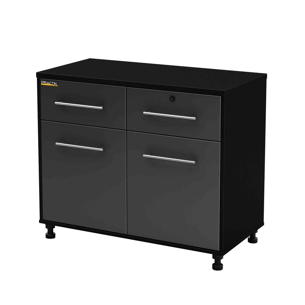 Karbon 30 In H X 39 1 2 W 19 D Garage Storage Base Cabinet