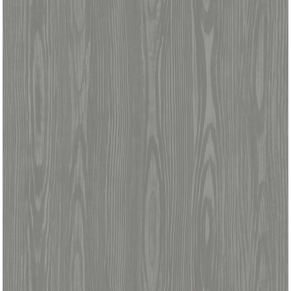 Illusion Grey Faux Wood Wallpaper Sample